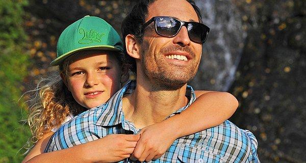 Schleierwasserfall Hart Vater Tochter