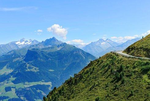 Sommerpanorama Höhenstraße im Zillertal