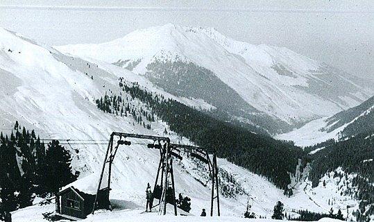 Historisches Bild Skigebiet Hochfügen erster Lift