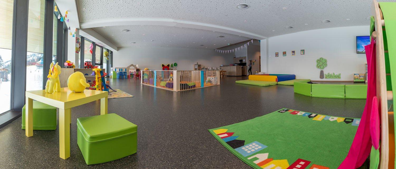 Spielbereich im Gästekindergarten Zwergerl Club Spieljoch