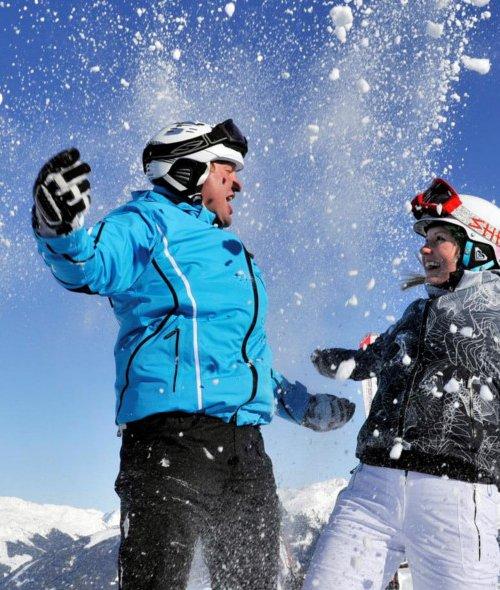Skifahren im Skigebiet Hochfügen im Zillertal
