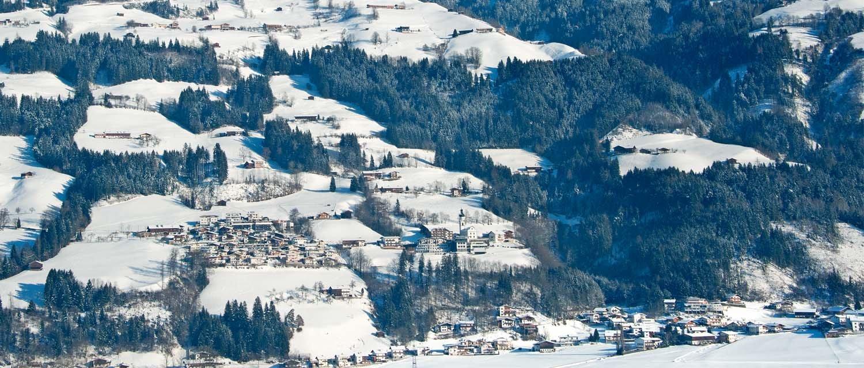 Winterpanorama Hart im Zillertal