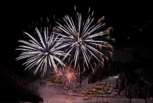 Feuerwerk in Hochfügen Silvester
