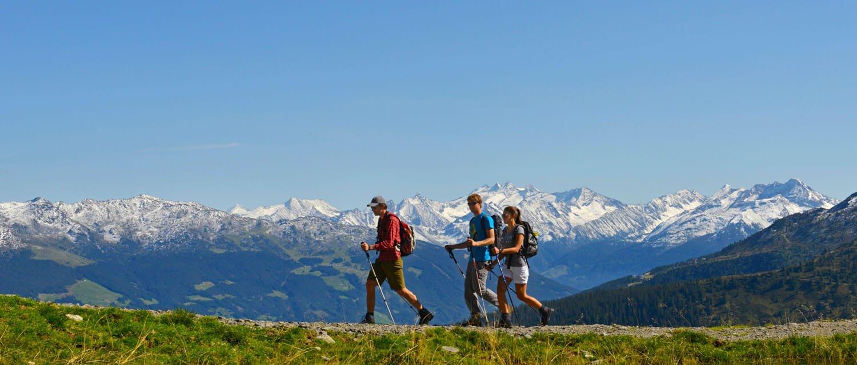 Wandern im Zillertal mit Bergpanorama