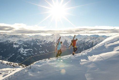 Begehung Alpinklettersteig bei traumhaften Wetter