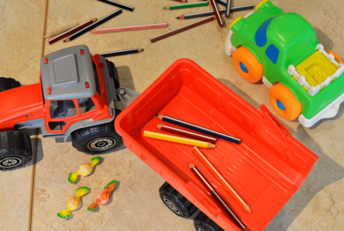 Spielzeugbagger vom Gästekindergarten Zillertal