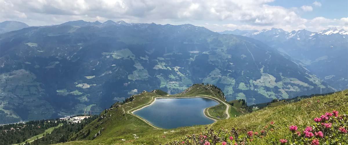Gedrechter Gipfel Ausblick Zillertal