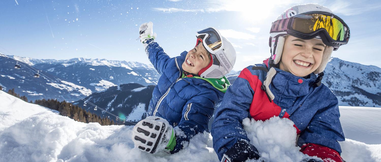 Spaß Kinder im Schnee Zillertal