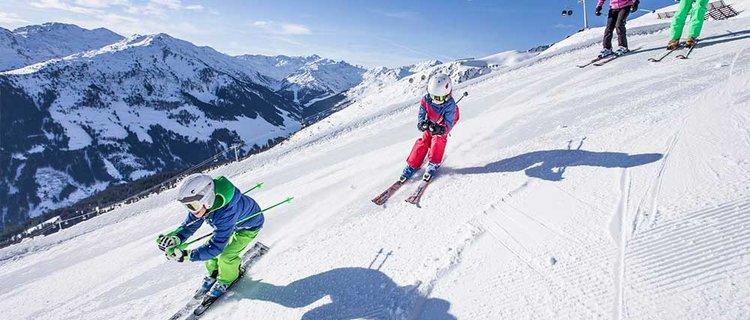 Skifahren mit Kinder