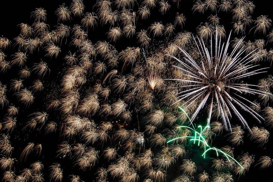 Feuerwerk zum Jahreswechsel