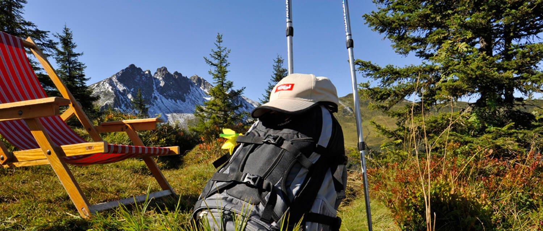 Wanderrucksack mit Ausrüstung m Zillertal