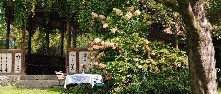 Gastgarten im Landgasthof Linde